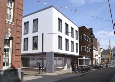 Studentenhuisvesting en commerciële ruimte nieuwlandstraat te Tilburg